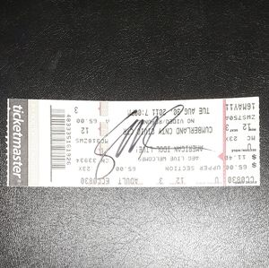 Scotty McCreery Signed Ticket Stub